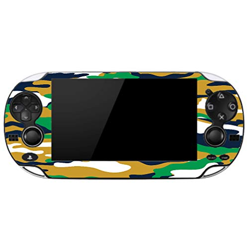 Camo Camouflage Blue Gold Green Vinyl Decal Sticker Skin by Moonlight4225 for Playstation Vita