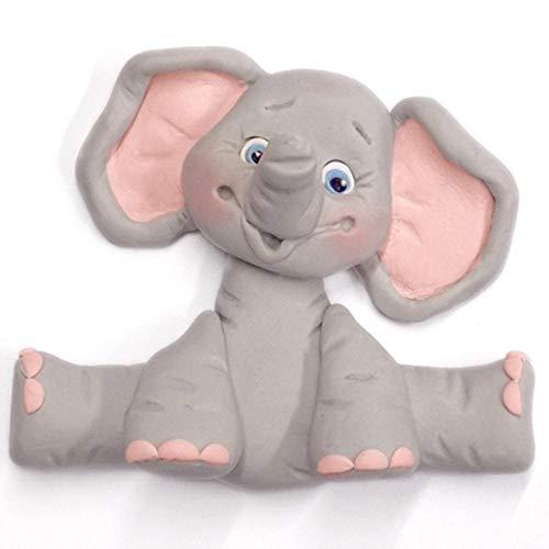 EDCV Kuchenform Kuchen Dekorationswerkzeuge Giraffe Löwe AFFE Elefant Zuckerknöpfe Gumpaste Tiere Silikonform Fondant, Elefant
