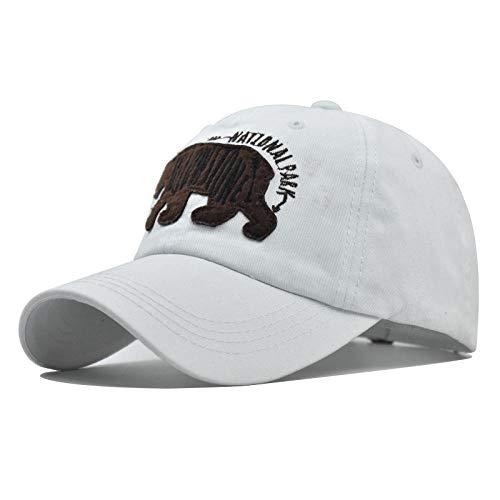 Herren Kappe Hut Mode Männer Baseball Cap 100% Baumwolle Snapback Frauen Papa Hut Knochen Trucker Cap 3D Stickerei-Weiß