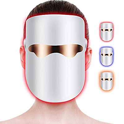 Dragoskandia Light Therapy Mask Acne Treatments Unlimited Sessions for Face Skin Care FM300 - Individually Lights of Red/Blue/Orange