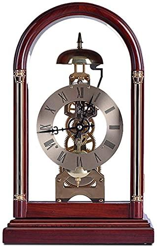 Scultura,Reloj De Sobremesa Mecánico para El Hogar Reloj De Mesa Antiguo Números Romanos Cara del Reloj Vidrio De Alta Definición 12 9 Pulgadas Sala De Estar Escritorio Decoración del Hogar