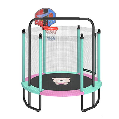CJSWT Trampoline for Kids with Safety Enclosure Net, Indoor/Outdoor Trampoline|for Kids/Children Best Birthday Gifts Good Exercise Tools