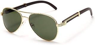 QWKLNRA - Gafas De Sol para Hombre Marco De Color Dorado Lente Verde Gafas De Sol Hombres Punk Uv400 Conducción contra-UV Gafas De Sol Clásicas Modernas Mujeres Gafas Ciclismo Viajes Pesca Gafas De