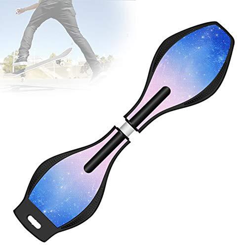 Grist CC Balancing Skateboards, Doppelrad Air Waveboard, Street Surfing Torsion Skateboards, 360° Schwenkräder Swing Board, Belastbar Bis 100Kg,C