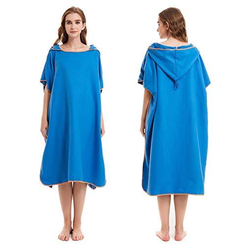 Jingtaihua Poncho de toalla cambiante para adulto, de secado rápido, traje de neopreno de microfibra, poncho de surf, para natación, playa, vacaciones, viajes, talla única