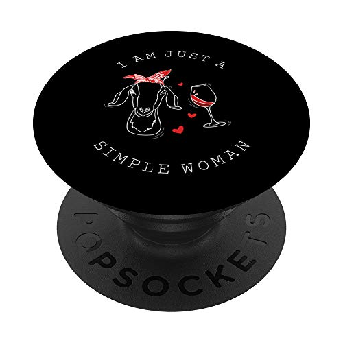 Simple Woman Likes Goats And Wine PopSockets PopGrip: Swappable Grip for Phones  Idaho