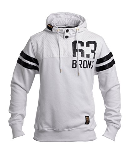 CrossHatch Herren Piratez Hooded 63 Bronx Hoodie, Weiß, Medium