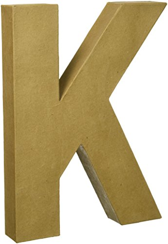 Darice 2861K Paper Mache Letter 12Inx15In Natural