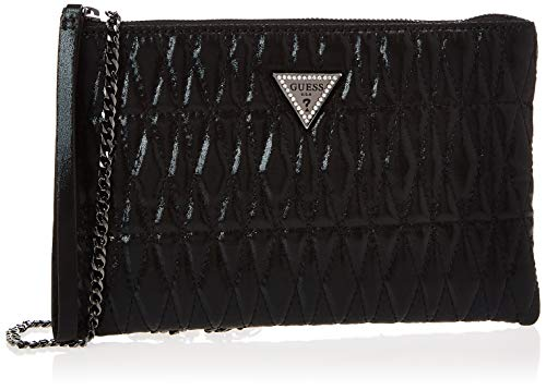 Guess PIXI Wristlet Clutch, Tote Bag Donna, Black, Taglia Unica