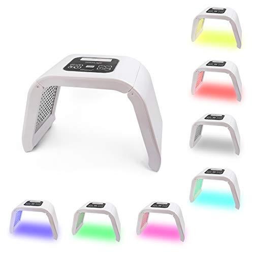 YUXINCAI 7-Farben-LED-Lichttherapie, Tragbare Photonen-PDT-Akne-Therapie Faltenentfernung Anti-Aging-Hautverjüngung Gesichtshautpflege-Schönheitsbehandlungsgerät Für Den Salon-Gebrauch