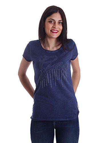 Gas Jeans Halis Lace T-Shirt, Blu (Real Indaco), X-Small (Taglia Produttore:XS) Donna