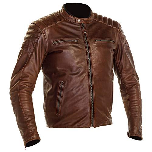 Richa Daytona 2 Urban - Chaqueta de cuero para hombre, color marrón