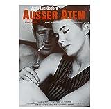 Sin aliento À bout de souffle Jean-Luc Godard película película cartel decorativo pared lienzo pintura decoración del hogar-60x80 cm sin marco