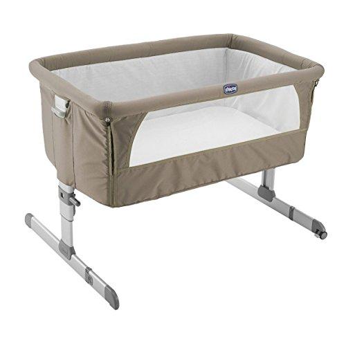 Chicco Next2me - Cuna de colecho con anclaje a cama y 6 alturas, colección 2017, color marrón
