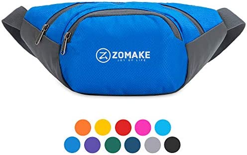 ZOMAKE Fanny Pack for Men Women Water Resistant Waist Bag Outdoors Workout Travel Casual Hiking product image