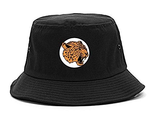 Kings Of NY Jaguar Print Mens Bucket Hat Black
