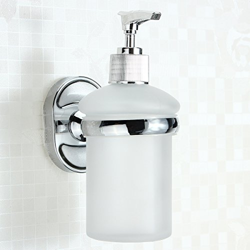 MASUNN RVS muur gemonteerde zeep dispenser houder Shampoo fles Frosted Glass