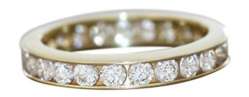 Hobra-Gold Hobra-Gold Zeitloser Memoryring Ring Gold 585 Damen Goldring Eternity Bandring 14 Kt. (63 (20.1))