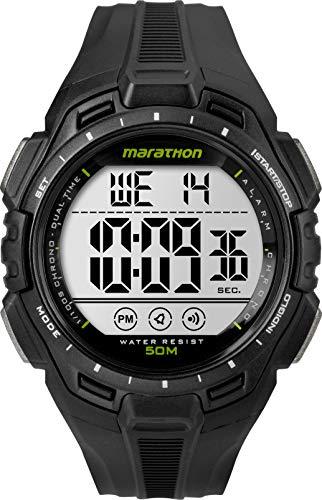 Timex TW5K94800 Orologio da Polso, Quadrante Digitale da Uomo, Cinturino in Resina, Nero/Nero