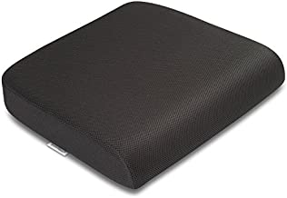 """TravelMate Extra-Large Memory Foam Seat Cushion – Perfect for Office Chair and Wheelchair – Does Not Slip Even on Smooth Marble Floors – Washable & Breathable Cover – Relieves Back Pain – 19""""x17""""x3"""""""