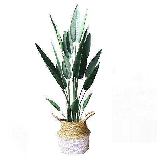 Yipianyun Künstliche Goldfruchtpalme/Areca Palme - Hochwertige Kunstpalme - Decorations Für Tropische Grünereien Akzente, Blumenarrangement,Weiß,140cm