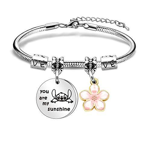 Maxforever Women Girl's Jewellery,' You are My Sunshine' Charm Bracelet for...