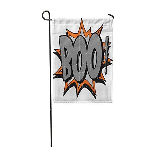12,5 'x 18' Gartenflagge Orange Halloween Boo Comic Herbst Cartoon Clip Home Outdoor Dekor Doppelseitige wasserdichte Yard Flags Banner für Party