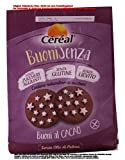 Céréal Buoni senza Buoni al Cacao 5 x 200g = 1000g Süße Backware Kekse Glutenfrei, ohne Hefe, ohne Palmöl