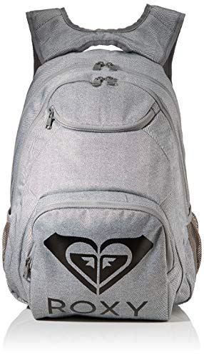 Roxy Shadow Swell Solid Logo, Mochila. para Mujer, Heritage Heather, Medium