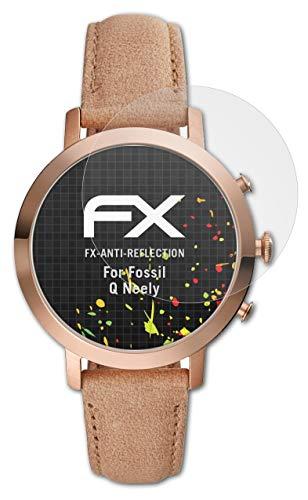 atFoliX Panzerfolie kompatibel mit Fossil Q Neely Schutzfolie, entspiegelnde & stoßdämpfende FX Folie (3X)