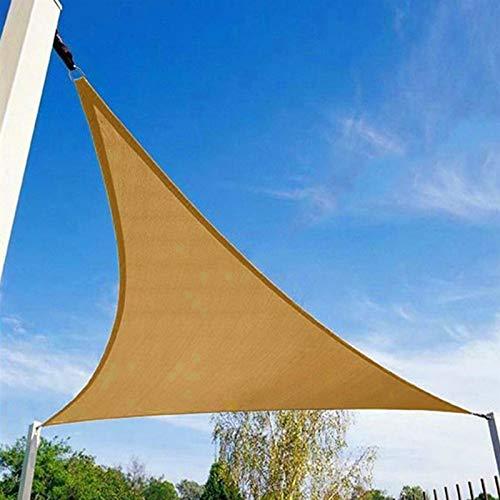 WXZX Toldo Vela Triangular Pergolas Bloquear UV De Jardin, Toldo Playa, Resistente A La Rotura Sol Vela De Sombra, Durable Y Fácil De Plegar, para Lona De Protección para Balcones Y Terrazas