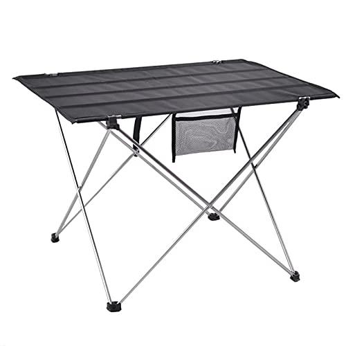 DHHZRKJ Soporte Mesa de Camping Plegable portátil de 33 Libras, Mesa de Picnic de Barbacoa de Tela Oxford de Aluminio, Mesa de Patio de Playa para Pesca al Aire Libre