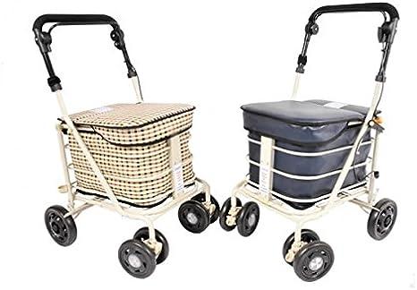 Light Tartan Standard Seat Shopping Trolley