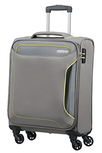 American Tourister Holiday Heat Spinner 55/20, 38 L - 2.6 KG Equipaje de Mano, 55 cm, Liters, Gris (Metal Grey)