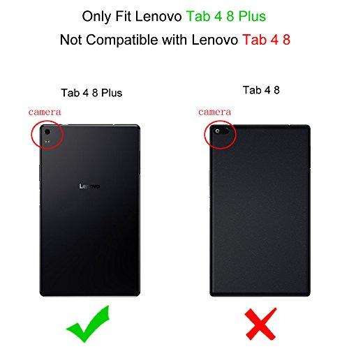Fintie Hülle für Lenovo Tab 4 8 Plus - Ultradünne Schutzhülle Tasche mit Auto Schlaf/Wach Funktion für Lenovo Tab 4 Plus 8 Zoll Tablet 2017 (Nicht geeignet für Lenovo Tab4 8), Marineblau