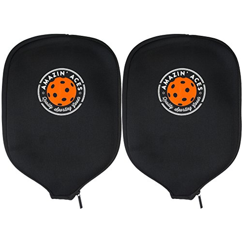 Amazin Aces Pickleball Paddle Covers, Set of Two Covers, Neoprene Cover Fits Paddles, Sleeves Protect Your Paddles from Scrapes & Dings
