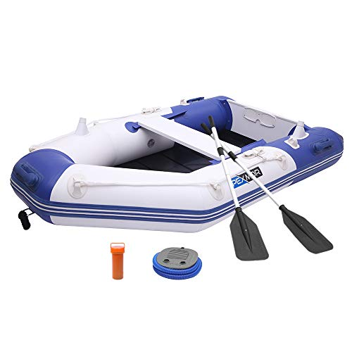 PEXMOR 7.5ft Inflatable Dinghy Boat 0.9mm PVC Sport Tender Fishing Raft Dinghy with Trolling Motor...