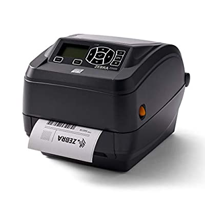 Zebra - ZD500t Thermal Transfer Desktop Printer for Labels and Barcodes - Print Width 4 in - 300 dpi - Interface: Wifi, Bluetooth, Parallel, Serial, USB - ZD50043-T01A00FZ
