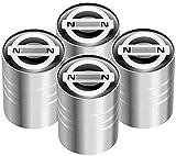 Coche Neumáticos Tapas Válvulas para Ni-ssan GTR Qashqai X-Trail Juke Patrouille Tiida Micra Almera, Prueba Polvo Caps Impermeable Duradero Antirrobo Decoración Accesorio