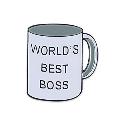 World's Best Boss Office Enamel Lapel Pin – 1 Pin