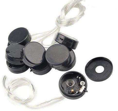 RUNCCI-YUN 10 pzs CR2032 Soporte de bateria, 3V CR2032 Soporte de Bateria Pilas de Boton con Interruptor de Cable, Portapilas para Pilas Botón