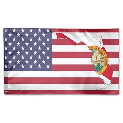 Kenice 3X5 Ft,Verandafahne,Garten Fahne Vertikal,Garten Flagge,Willkommensflagge, Florida State Flag FL Kartenflagge
