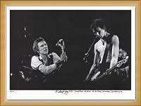 ポスター マイケル ザガリス Johnny Rotten& Sid Vicious Sex Pistols 手書きナンバリング限定10枚/サイン入り 額装品 ウッドベーシックフレーム(ナチュラル)