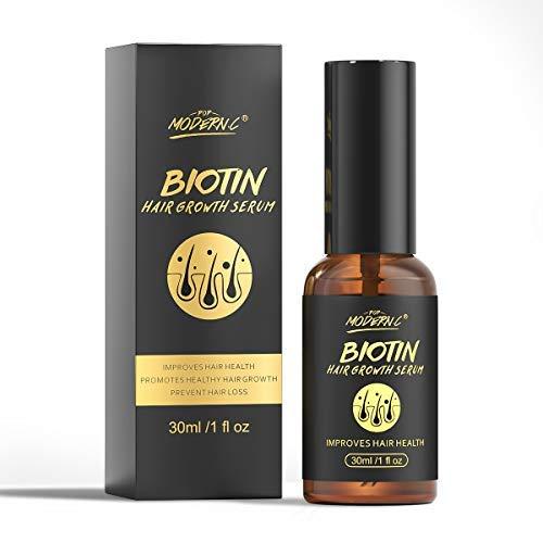 Haarwuchs Serum Biotin Haarwuchsöl - Reduzieren Sie Haarausfall Haarwuchs Behandlung, fördert das Haarwachstum Längere Reparaturen Beschädigtes Haar stimuliert die Haarwurzeln für Männer und Frauen