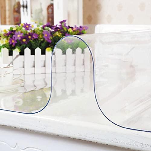 Mantel Transparente de PVC Plástico Grueso Impermeable para Resistente al Aceite y al Calor Mantel Protector Mesa Cristal Mesa Cocina (Color : 1.5mm, Size : 80X120cm)