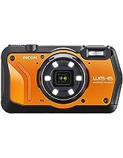 RICOH WG-6 Orange waterdichte camera hoge resolutie beelden met 20 MP 3 inch LCD waterdicht tot 20 m schokbestendig tot valhoogte van 2,1 m onderwatermodus ring met 6 leds voor macro-opnamen