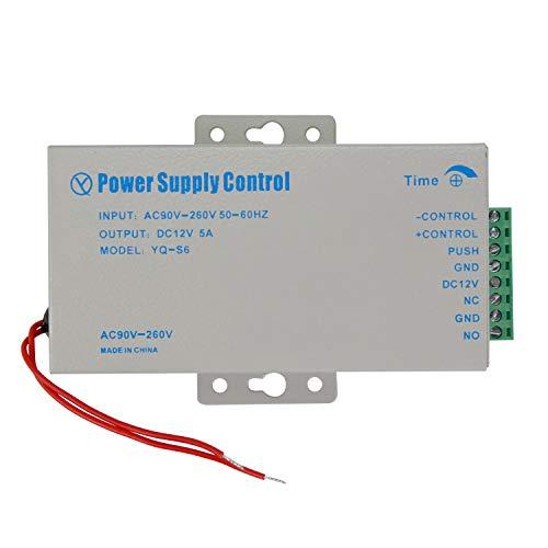 OBO HANDS Mejor Precio de DC12 V 5 A Fuente de Alimentación con Alta Calidad para Kit de Sistema de Control de Acceso Interruptor Electrónico de Potencia AC90V-260V (yq-s6)