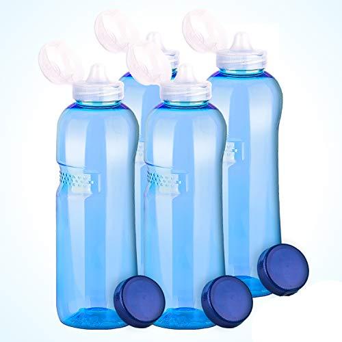 4 x 1,0 Tritan Trinkflasche mit Trinkdeckel Flip Top Wasserflasche Flasche Sport Fahrrad BPA - frei