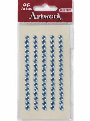 Artoz Papier AG - Artwork Sticker Strasssteine selbstklebend rund 5mm blau