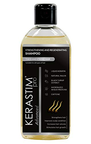 Kerastim Pro Hair Loss Shampoo for Women & Men, Hair Growth Serum, Anti-Thinning Formula. Hair Treatment With Keratin, Caffeine,Black Turnip Extract 200ml. NO SLS, NO DYE, NO PARABEN, NO ETHANOL
